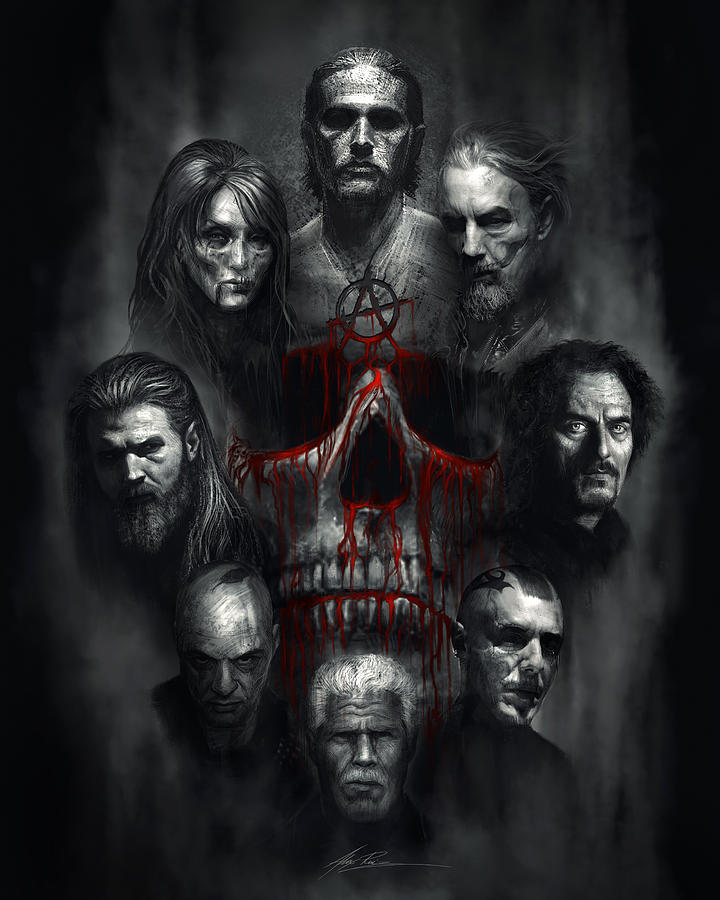 Sons Of Anarchy Tribute Digital Art