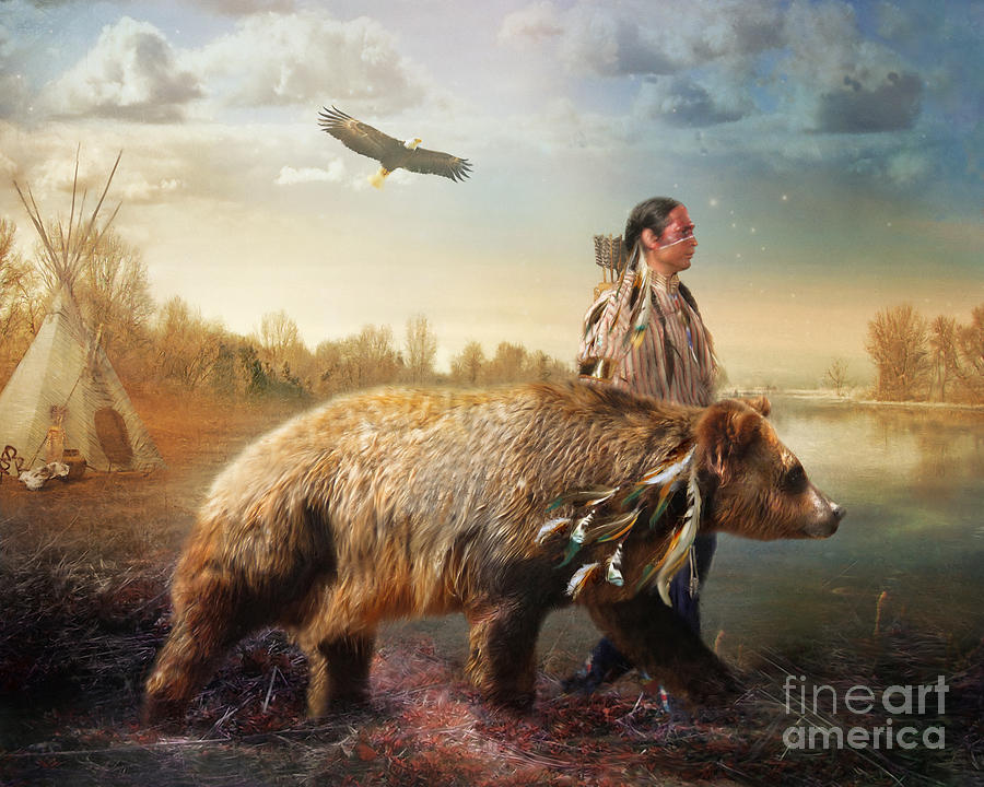 Bear Digital Art - Sons Of The Earth by Trudi Simmonds