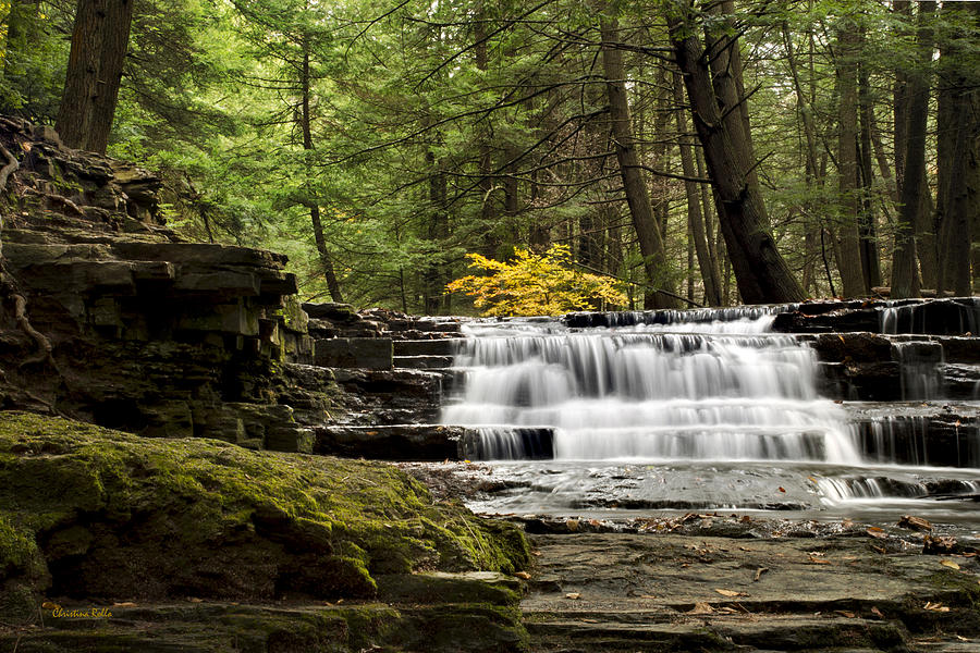 Waterfall Photograph - Soothing Waters by Christina Rollo