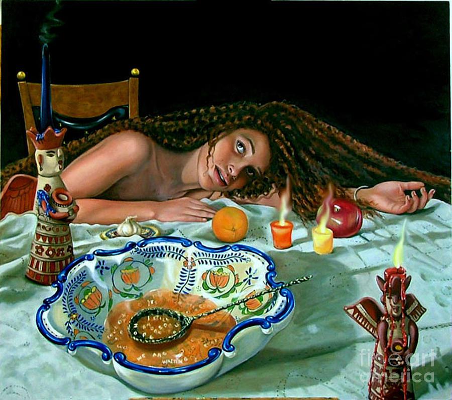Death Painting - Sope La Divinacion by Shelley Laffal