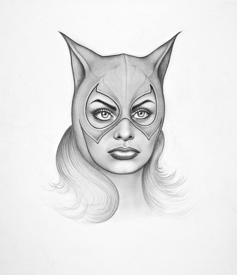Sophia As Catwoman Drawing by Philip Gray