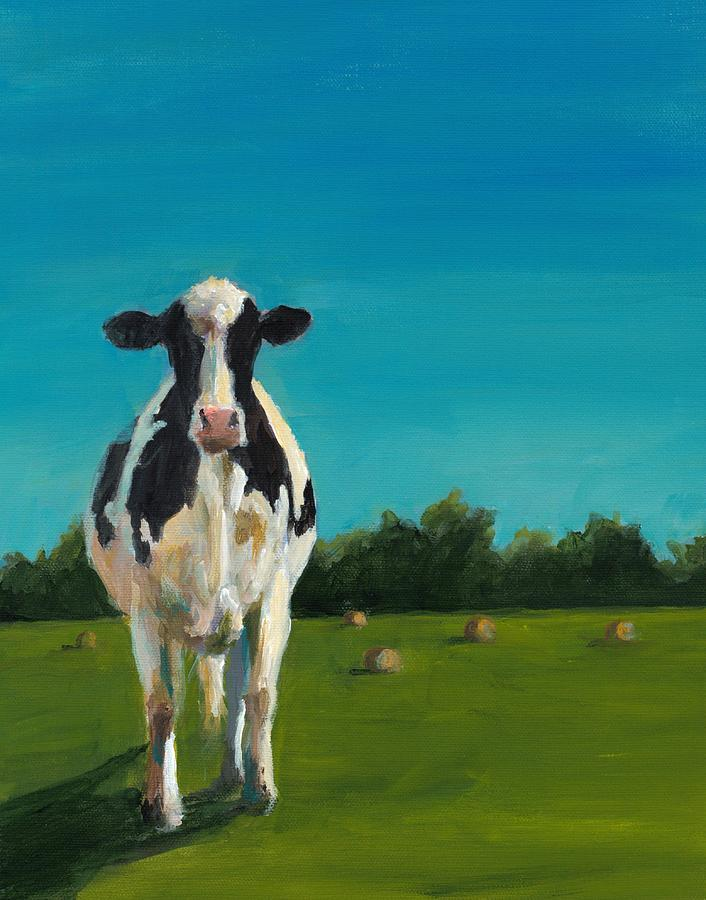 Cow Painting - Sophia Study by Cari Humphry