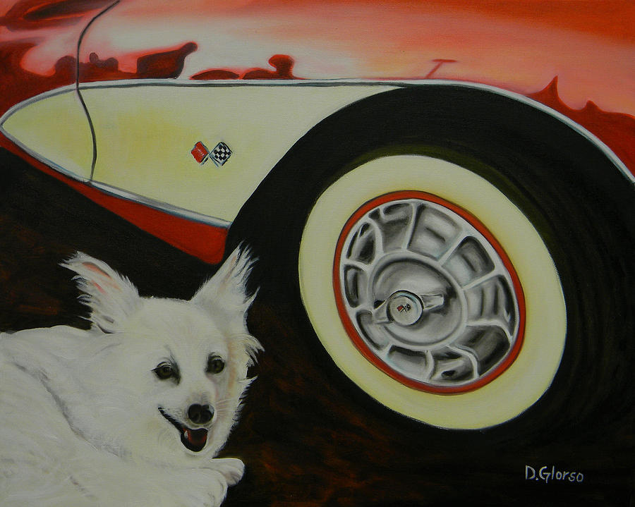 Oil Painting - Sophie At The Vett by Dean Glorso