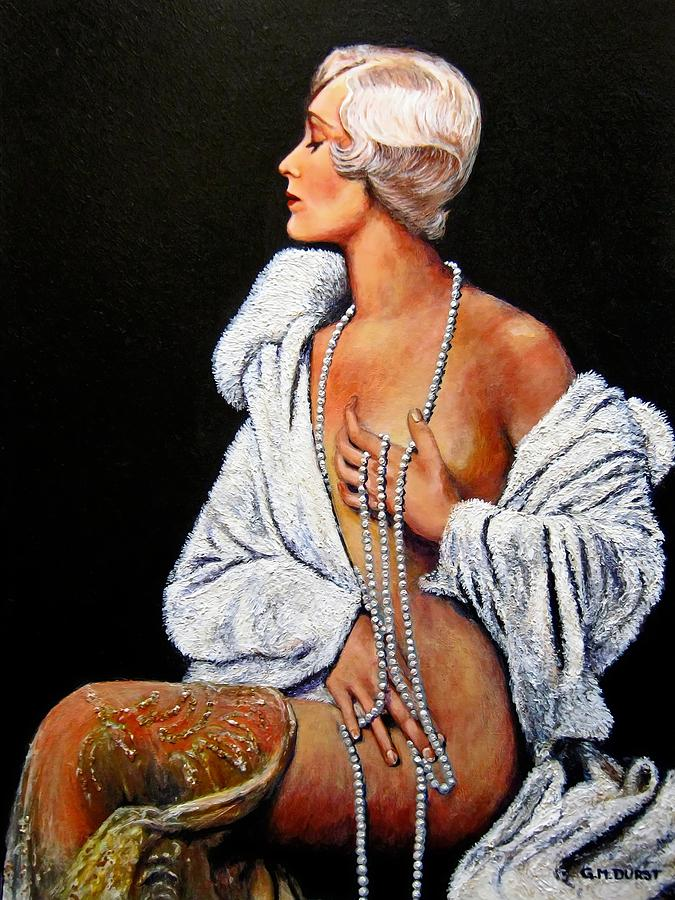 Art Deco Painting - Sophisticated Lady by Michael Durst