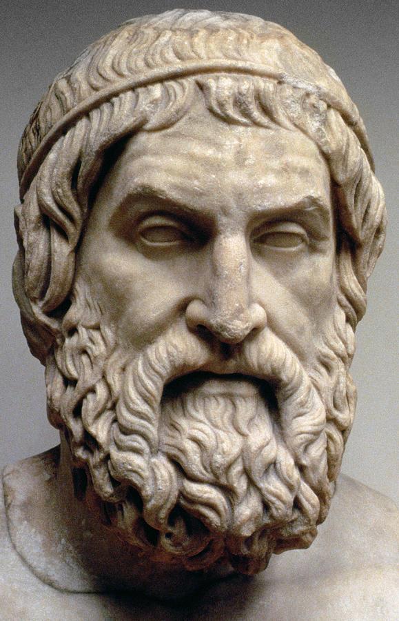 Sophocles Sculpture By Greek School