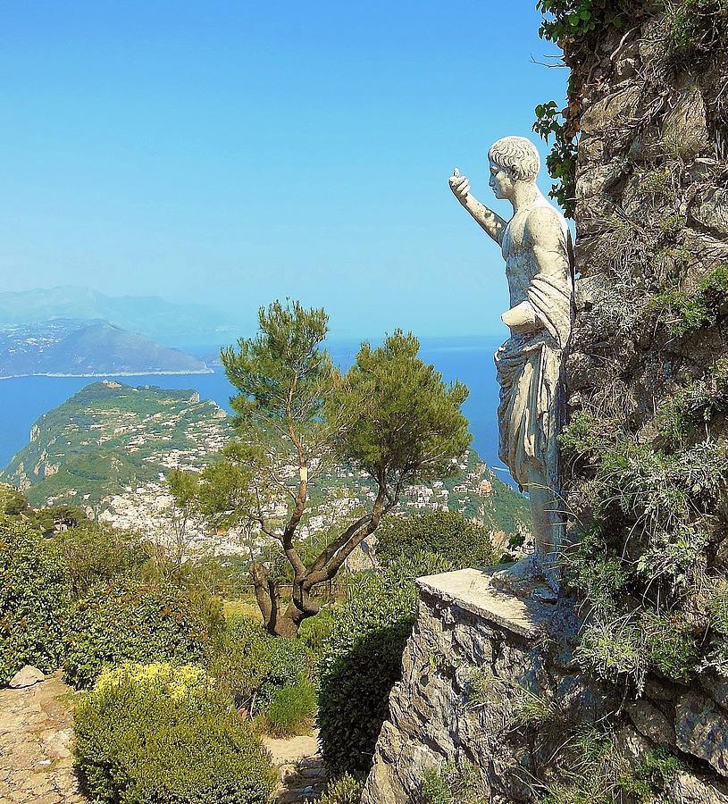 Capri Photograph - Sorrento Peninsula From Mt Solaro Capri  by Marilyn Dunlap