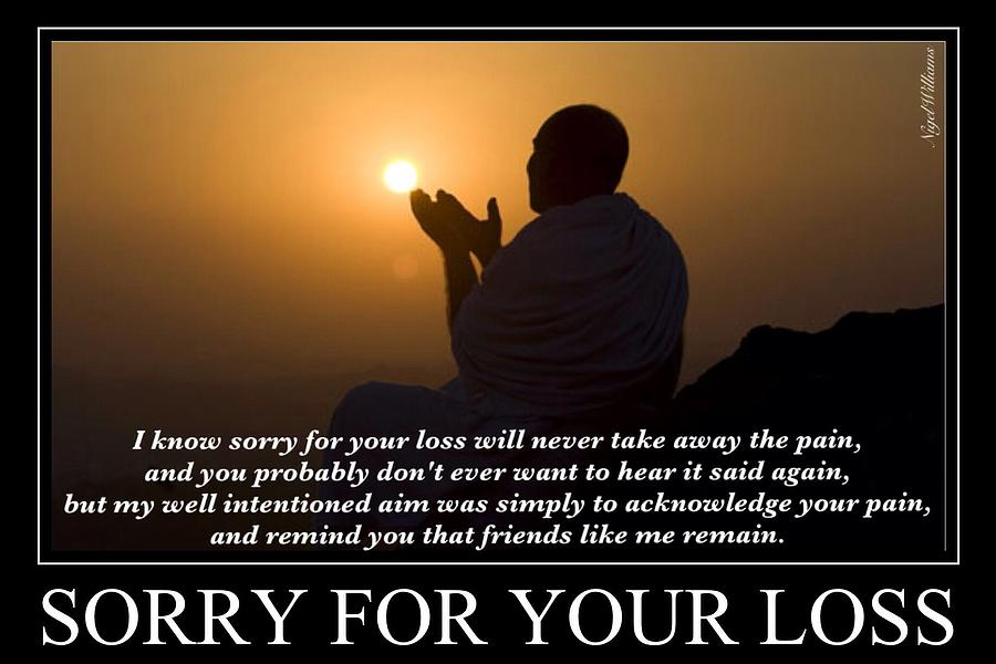 Sorry For Your Loss By Nigel Williams