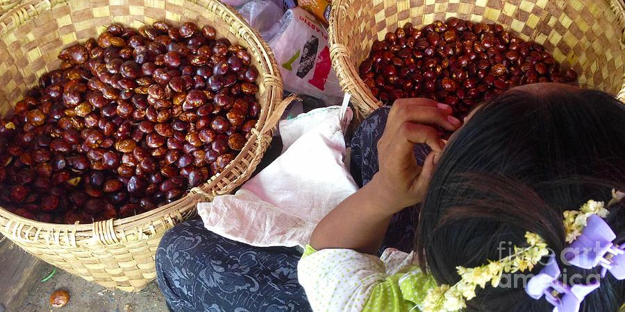 Sorting Water Chestnuts Zay Cho Street Market 29th Street Mandalay Burma by PIXELS  XPOSED Ralph A Ledergerber Photography
