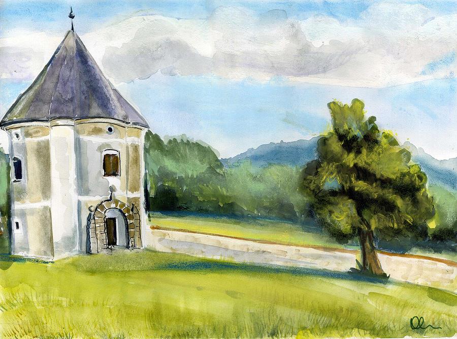 Slovenia Painting - Soteska. Slovenia. by Lelia Sorokina