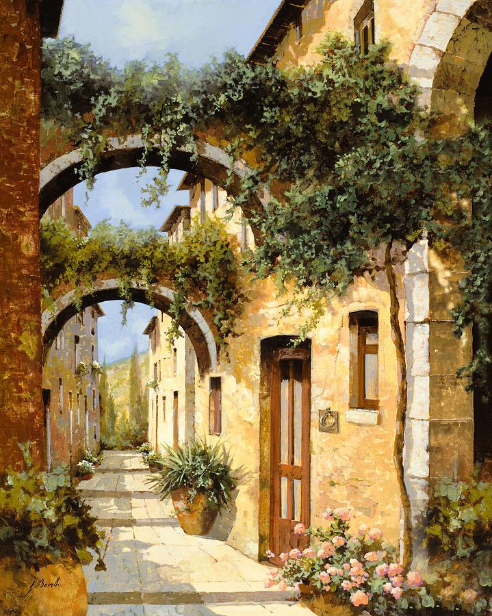 Arch Painting - Sotto Gli Archi by Guido Borelli