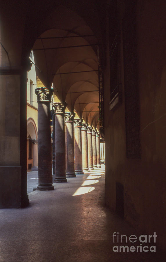 Colonnade Photograph - Sotto I Portici by Carol Weitz