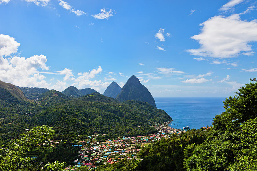 Soufrière And Pitons, St. Lucia Photograph by Flavio Vallenari
