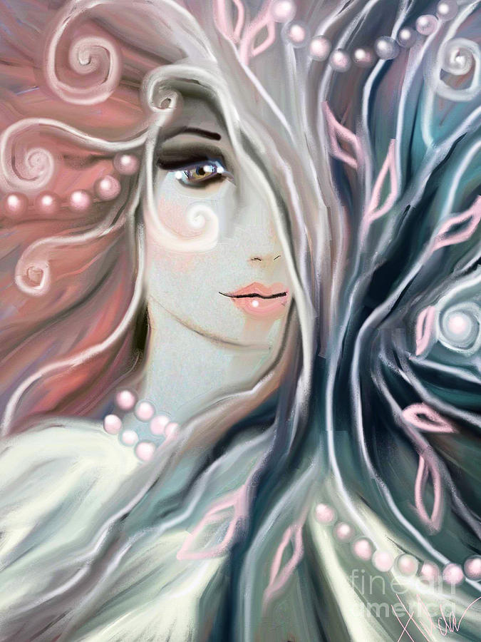Woman Painting - Soul Confessions by Hilda Lechuga