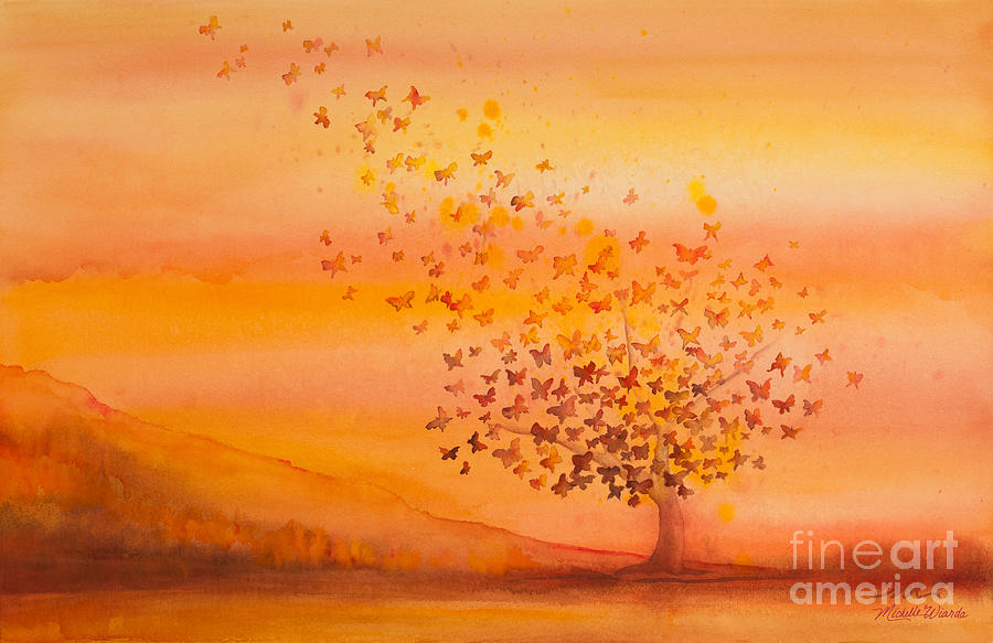 Soul Freedom Watercolor Painting by Michelle Constantine