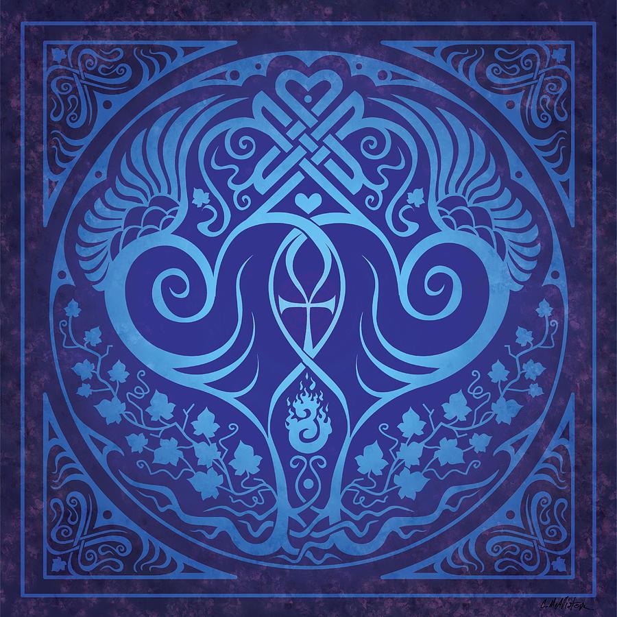 Soul Mates Digital Art - Soul Mates - Blue by Cristina McAllister