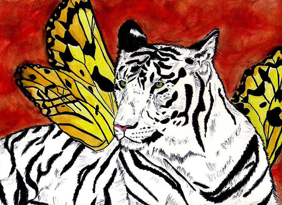 Tiger Painting - Soul Rhapsody by Crystal Hubbard