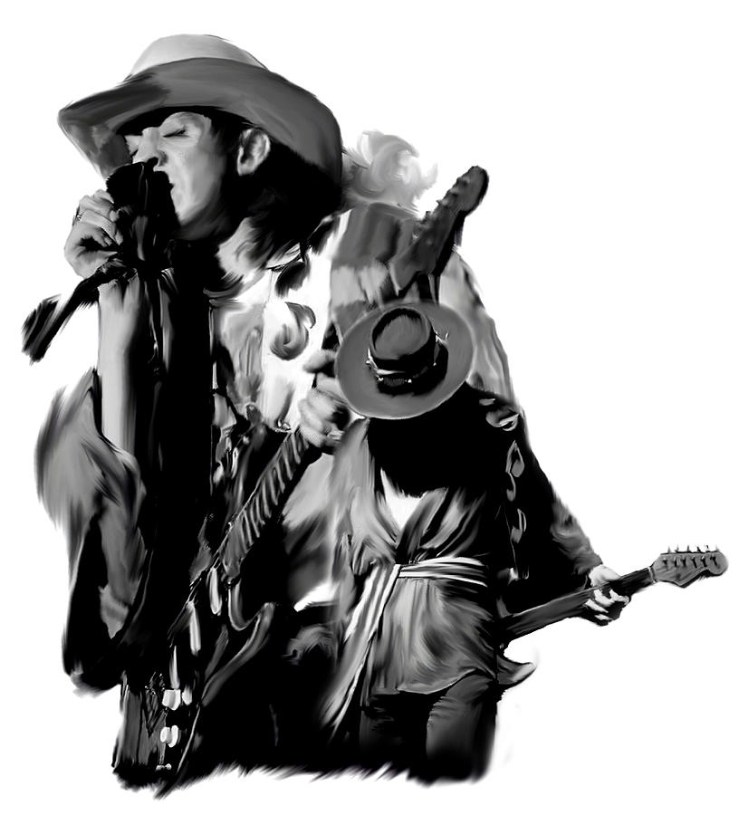 Stevie Ray Vaughan Painting - Soul To Soul  Stevie Ray Vaughan by Iconic Images Art Gallery David Pucciarelli