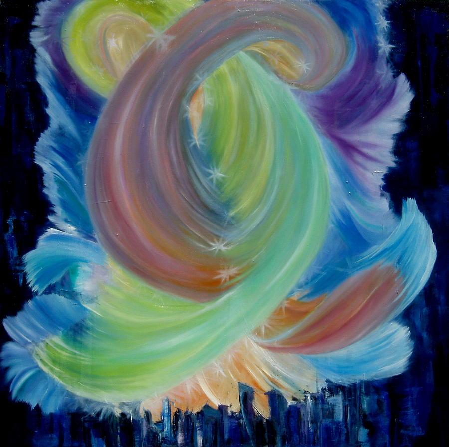 Spiritual Painting - Soulmates by Andrea Vazquez-Davidson