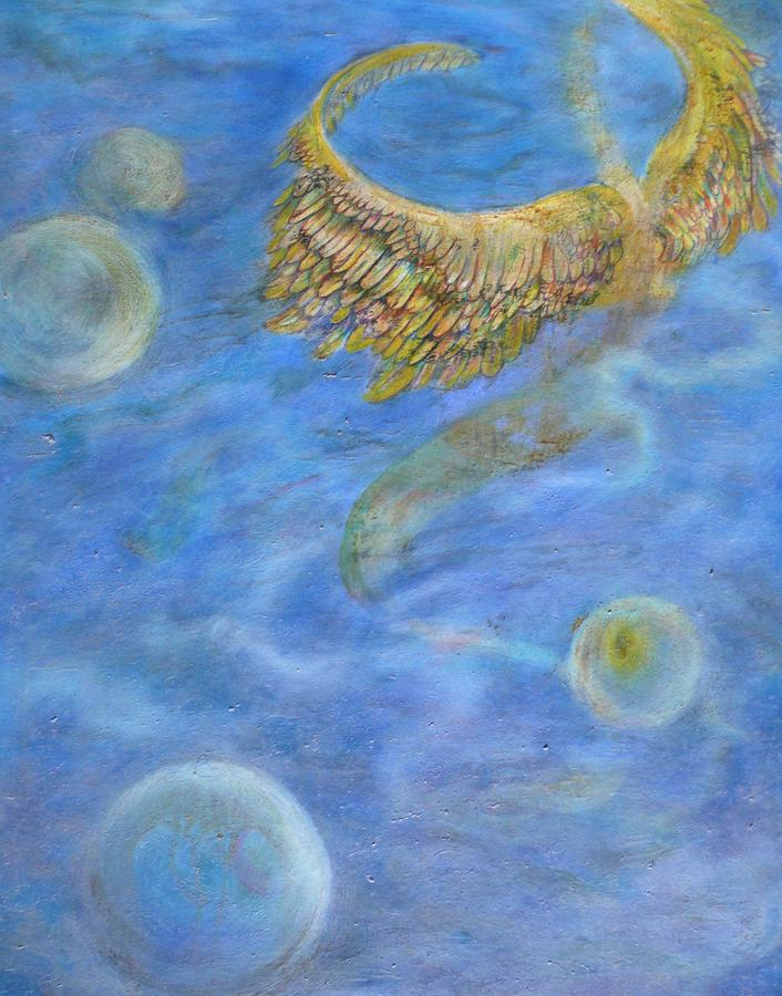 Soul Painting - Souls Flight In The Ocean Of Time And Space by Jacquelyn Roberts