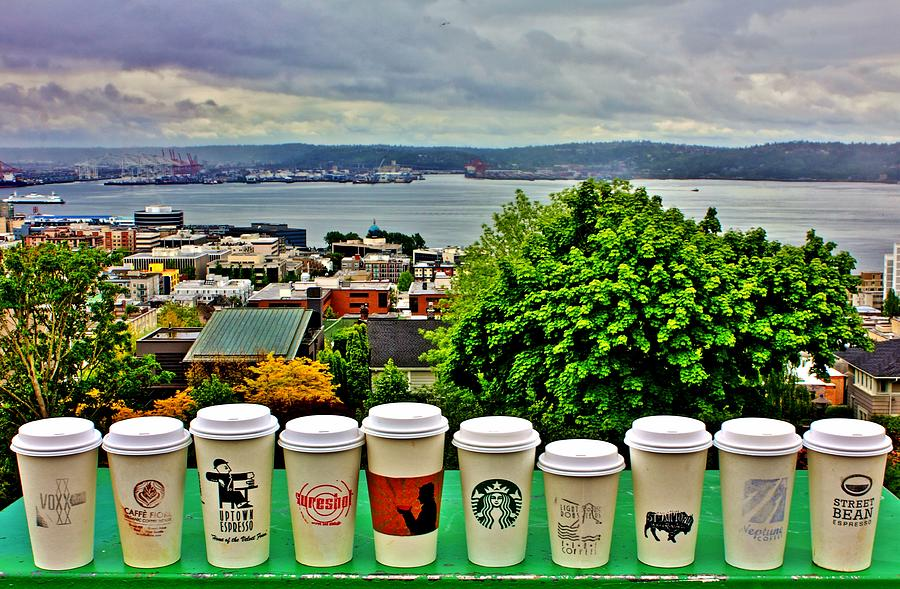 Seattle Photograph - Sound Coffees by Benjamin Yeager
