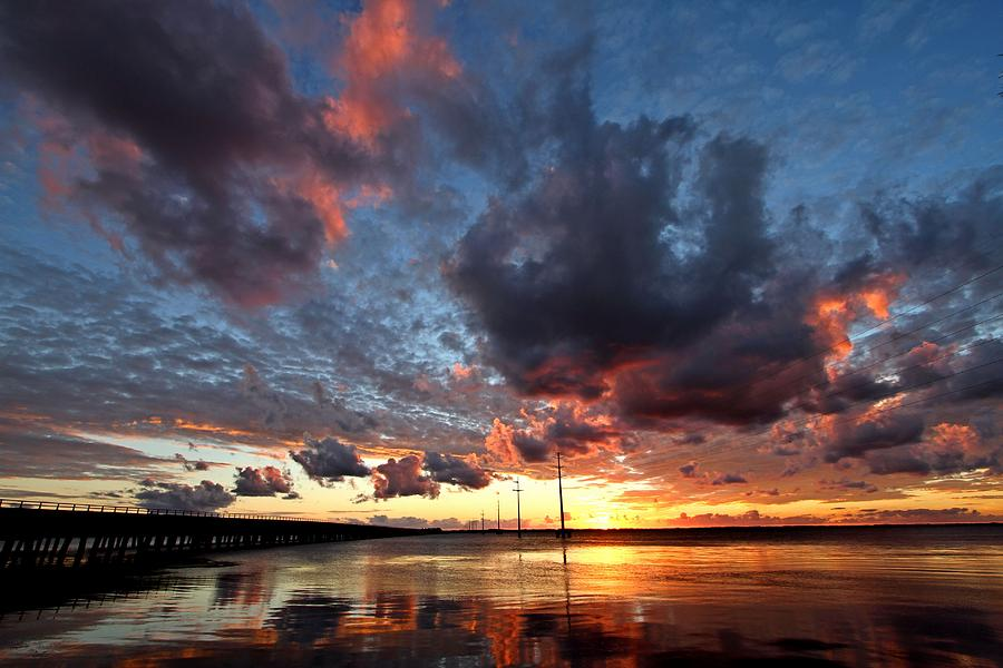 Water Photograph - Sound Sunset by Stephanie Tomlinson