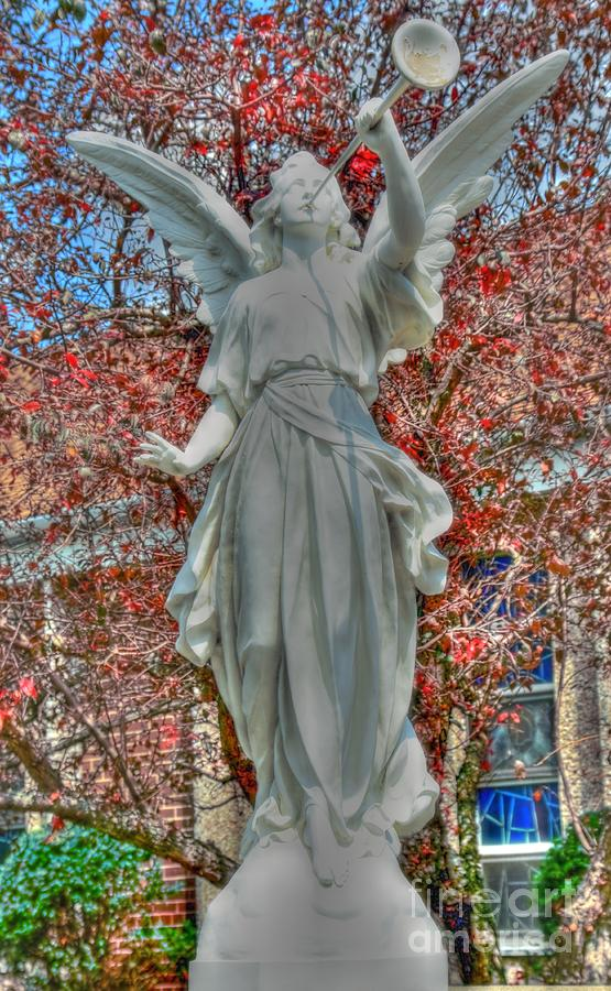 Angel Photograph - Sound The Trumpet by Kathleen Struckle