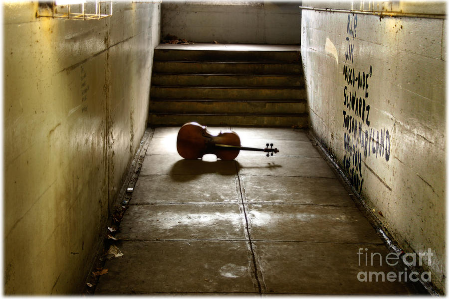 Cello Photograph - Sounds from the Underworld  by Steven Digman