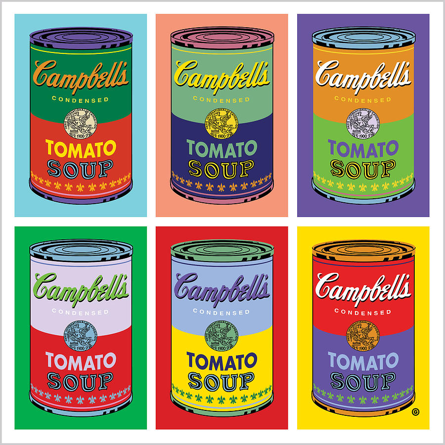 Vector Digital Art - Soup Cans by Gary Grayson