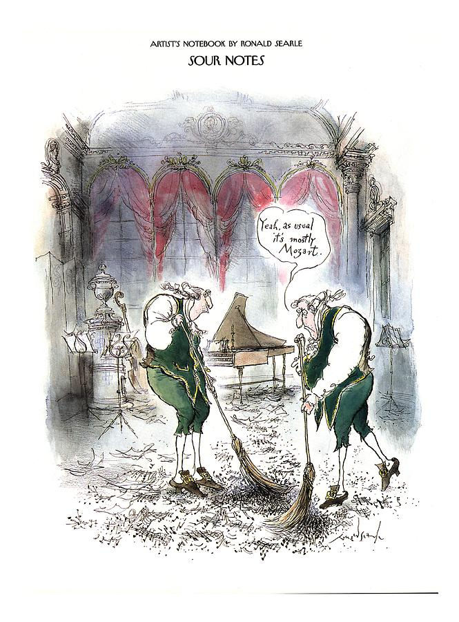 Sour Notes yeah Drawing by Ronald Searle