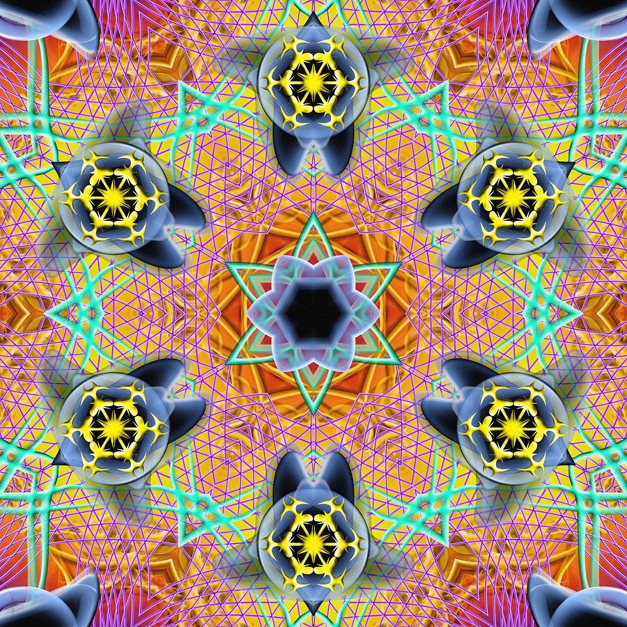 Sacred Digital Art - Source Fabric K1 by Derek Gedney