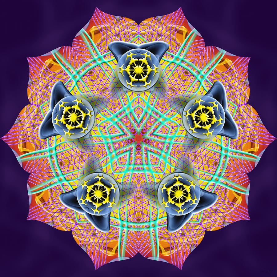 Sacred Digital Art - Source Fabric K3 by Derek Gedney