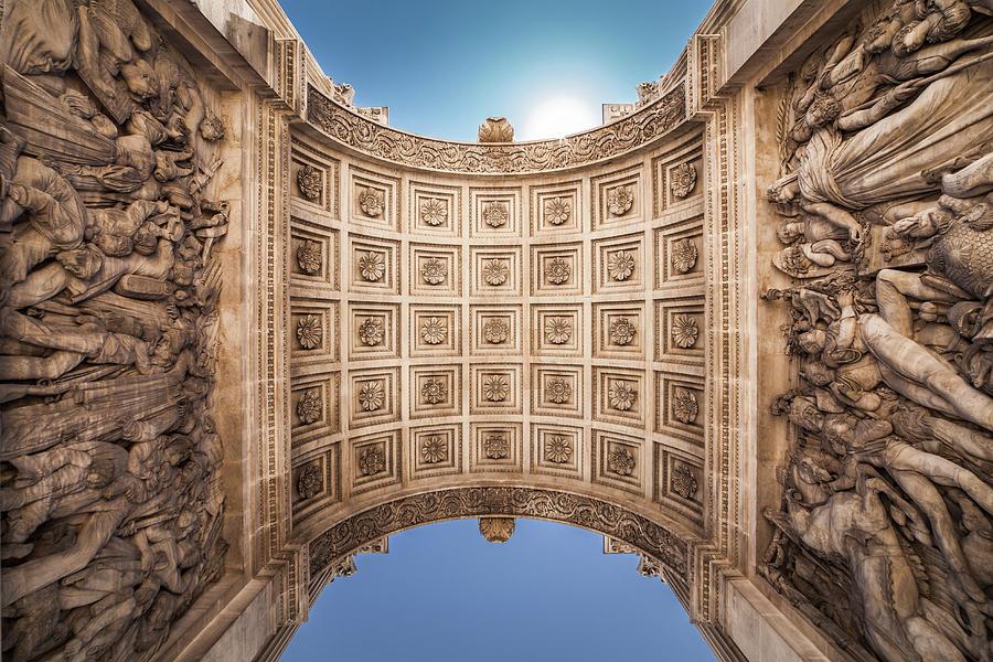 Sous La Porte Daix  Under The Aix Gate Photograph by L. Valencia