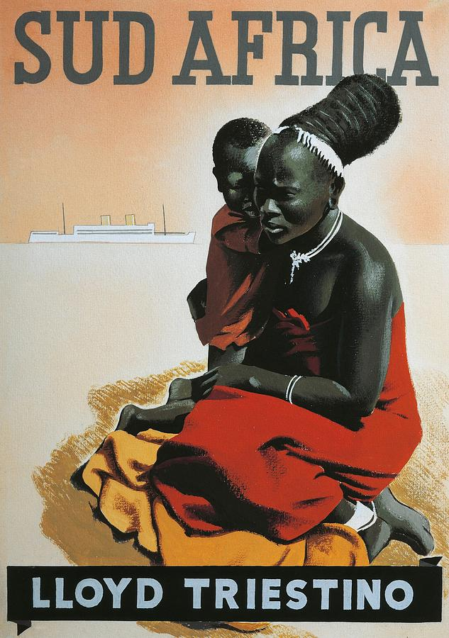 African Drawing - South Africa  by Anonymous