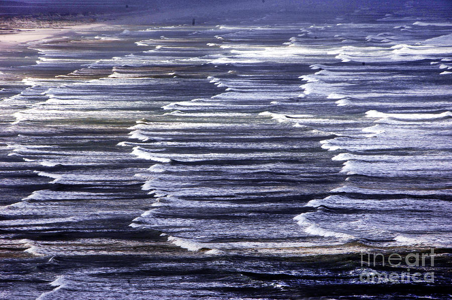 Water Photograph - South African Indian Ocean Waves by Howard Koby