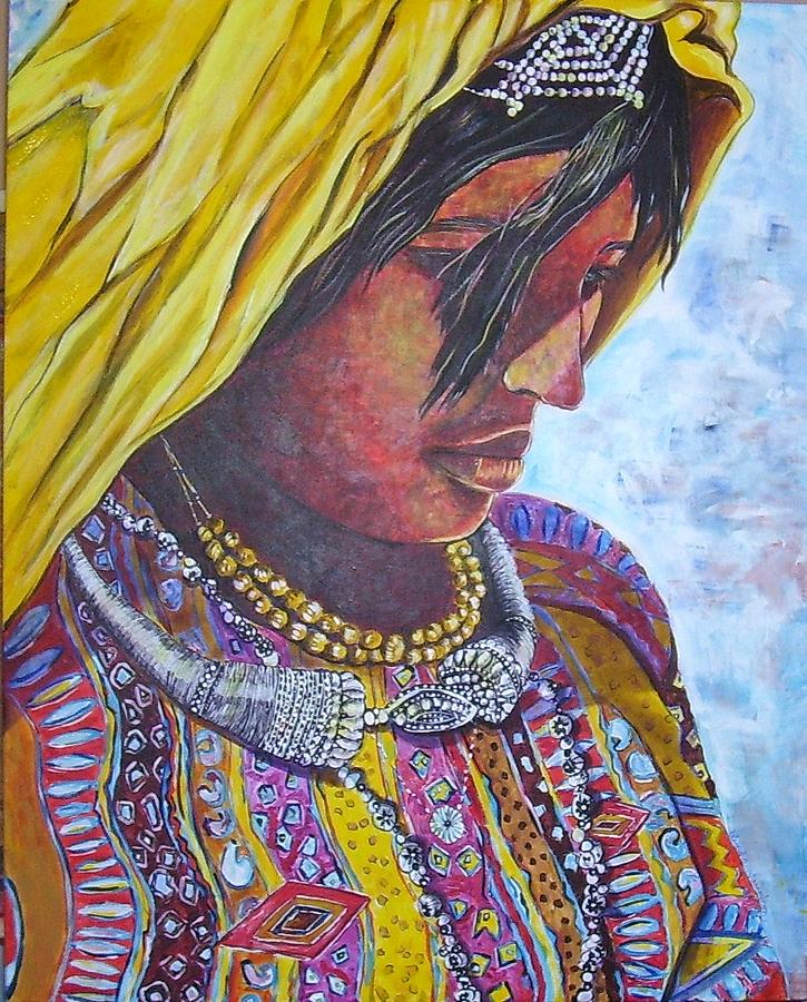 Young Woman Painting - South American Woman by Linda Vaughon