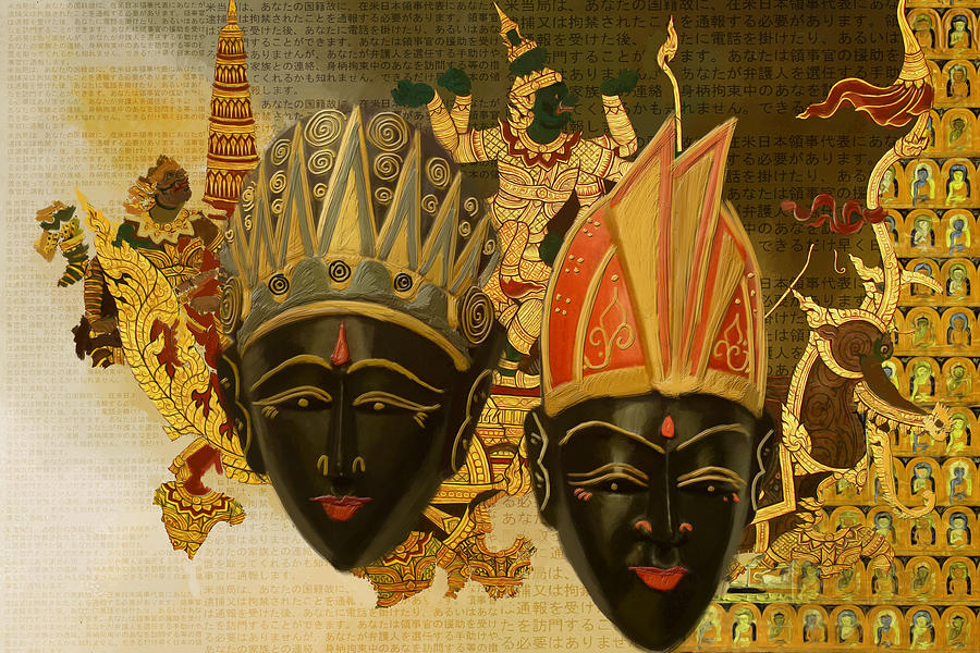 Yoga Canvas Prints Painting - South Asian Art by Corporate Art Task Force