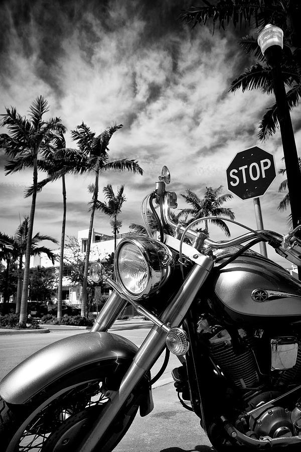 Bike Photograph - South Beach Cruiser by Dave Bowman