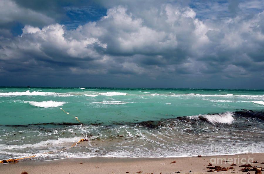 Miami Photograph - South Beach Storm Clouds by John Rizzuto