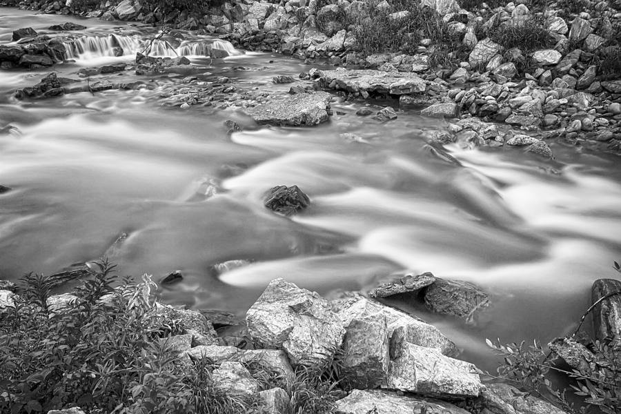 Creek Photograph - South Boulder Creek Little Waterfalls Rollinsville Bw by James BO  Insogna