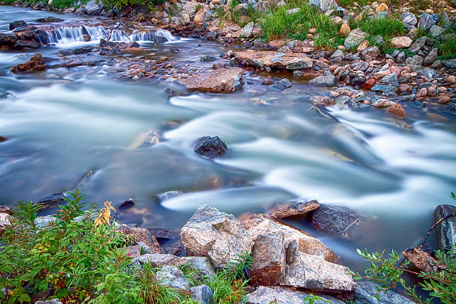 Creek Photograph - South Boulder Creek Little Waterfalls Rollinsville by James BO  Insogna