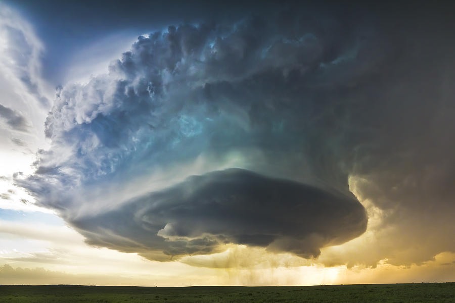 Supercell Photograph - South Dakota Stack by Evan Ludes