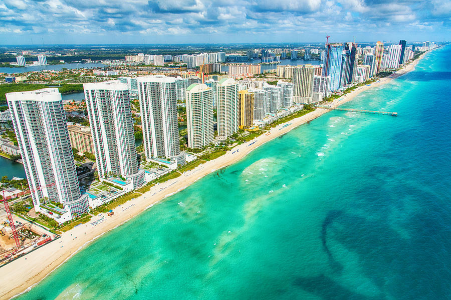 South Florida Coastline Aerial Photograph by Art Wager