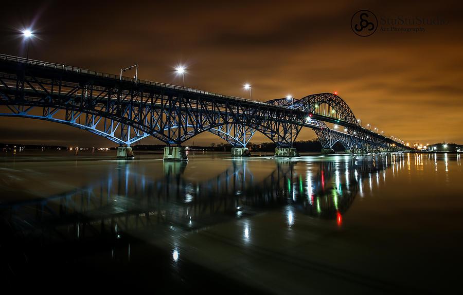South Grand Island Bridge Photograph by Stu Stu Studio