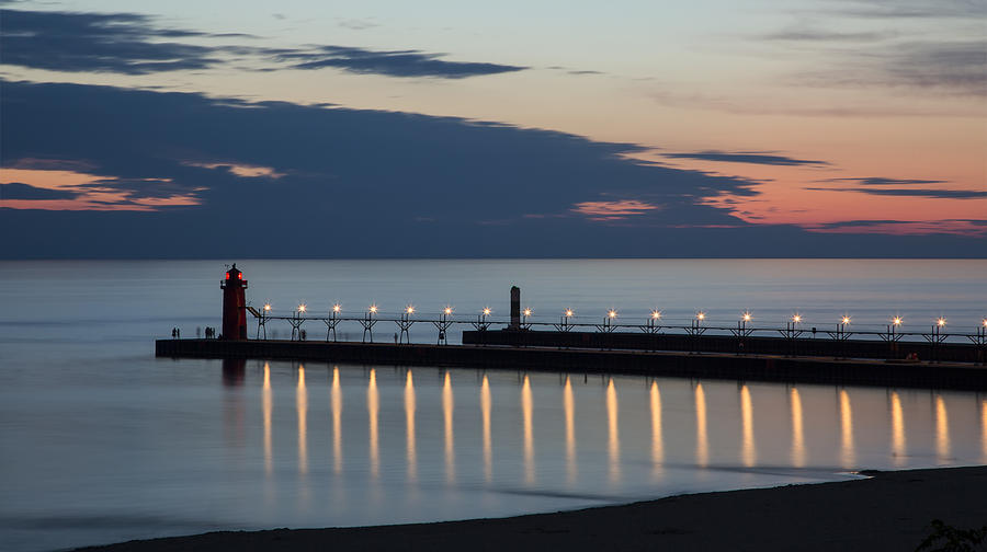 3scape Photos Photograph - South Haven Michigan Lighthouse by Adam Romanowicz