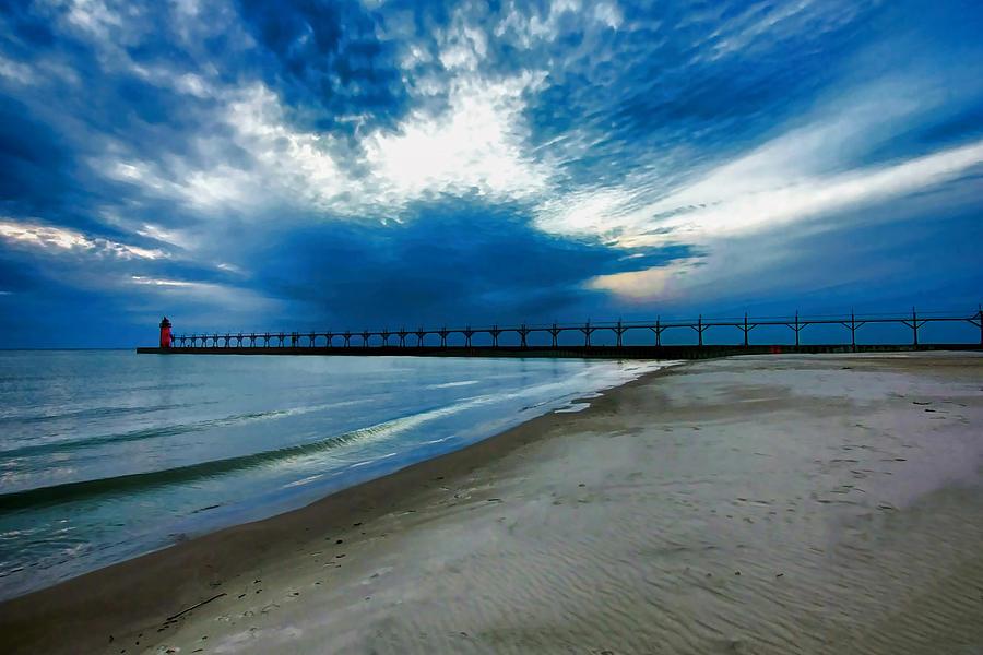 South Haven Mi Photograph - South Haven Pier by Pat Cook