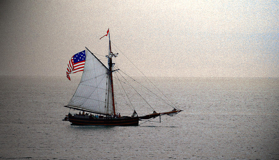 Nautical Photograph - South Haven Sailing by Penny Hunt