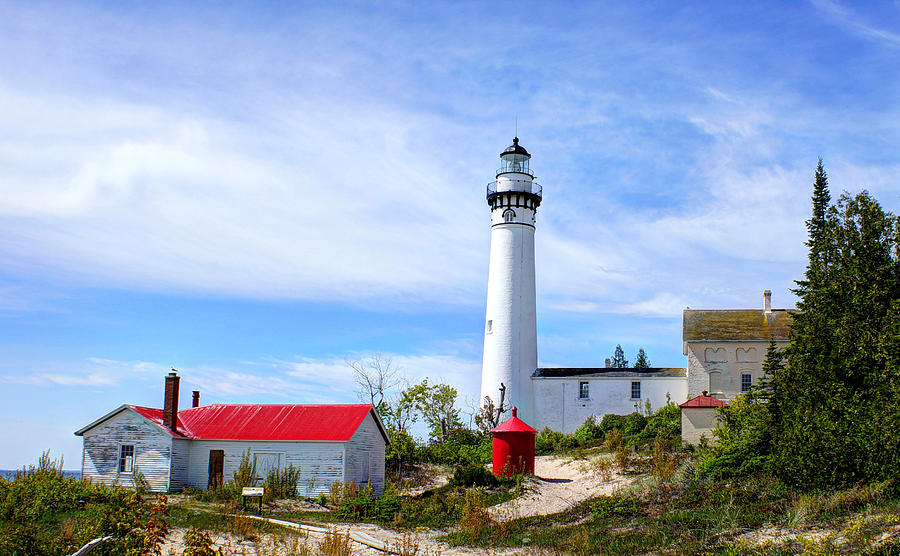 Lighthouse Photograph - South Manitou Island by Bruce Wilbur