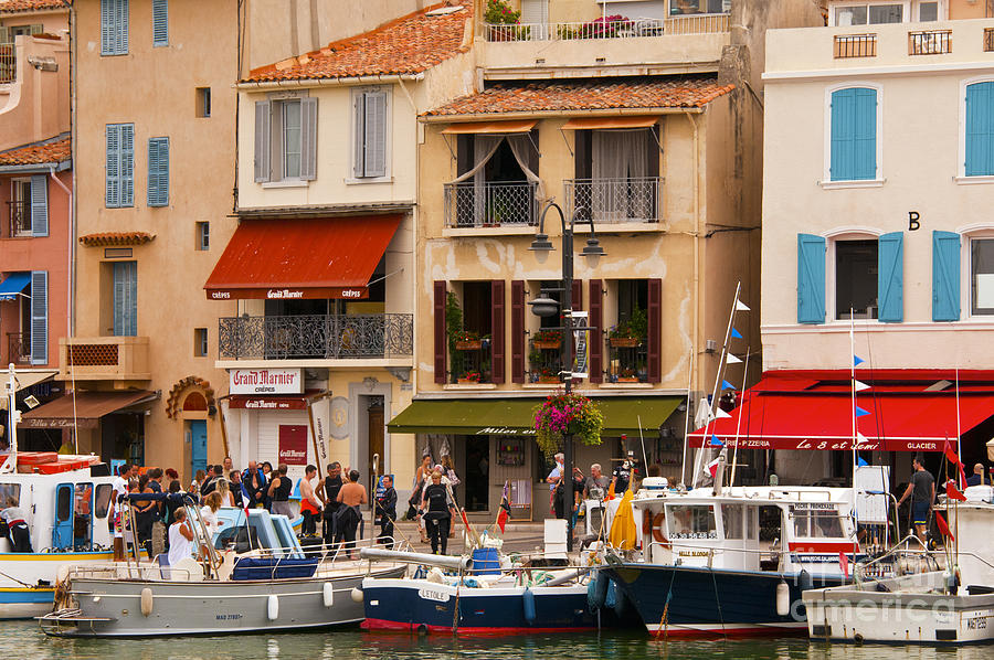 Fishing Village Photograph - South Of France Fishing Village by Bob Phillips