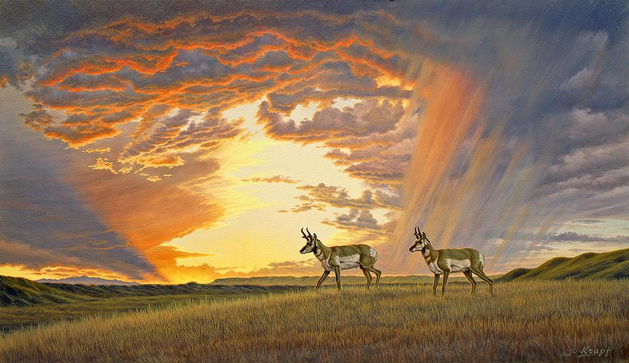 Wildlife Painting - South of Lander by Paul Krapf