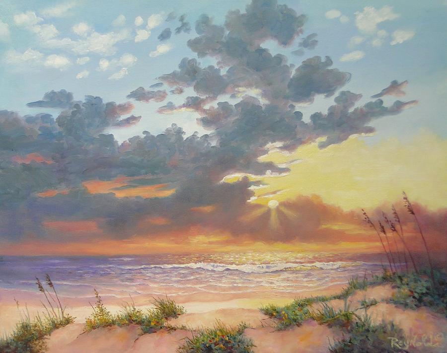Seascape Painting - South Padre Island Splendor by Carol Reynolds